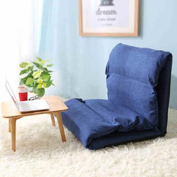 木优棉麻懒人沙发创意单人可折叠榻榻米床上椅子卧室小沙发飘窗垫