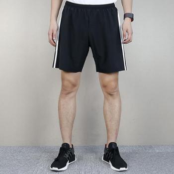 阿迪达斯Adidas速干透气三条纹跑步针织短裤CF0709