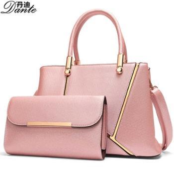 丹迪欧美时尚PU斜挎包女士手提包单肩包字母K潮流女包【赠送手包】箱包皮具
