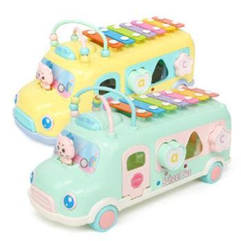 北国e家儿童手敲琴车早教益智玩具八音琴儿童益智早教玩具宝宝敲打音乐玩具敲击乐器好玩的玩具