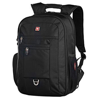 瑞士军刀双肩包男士背包商务出差大容量旅行包15.6寸电脑包高中学生书包运动休闲包