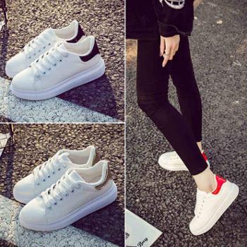 韩版春夏季小白鞋女休闲鞋厚底板鞋运动鞋学生女鞋跑步鞋透气鞋子
