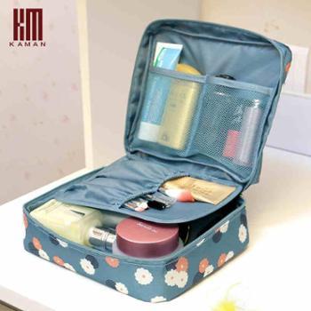Kaman韩国便携旅行套装洗漱包出差旅游女士防水收纳袋化妆包小号