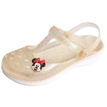 夏季玛丽珍花园果冻洞洞鞋坡跟厚底女鞋包头凉拖鞋女亲子儿童凉鞋