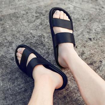 拖鞋夏季一字拖室外休闲凉拖男士凉鞋韩版防滑沙滩鞋外穿人字潮拖