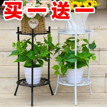 特价多层铁艺花架阳台落地绿萝吊兰多肉花盆架欧式客厅室内花架子
