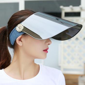 夏天防紫外线太阳帽女士夏季骑车遮脸防晒遮阳帽男电动车空顶帽子