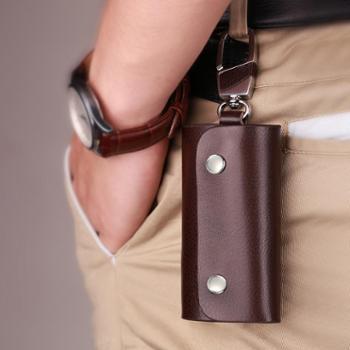 钥匙包男士真皮腰挂锁匙包女手拿牛皮零钱包随手包腰挂情侣款通用