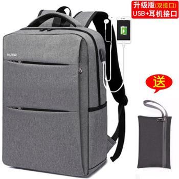 商务背包 男士双肩包韩版潮流旅行包休闲女学生书包 简约时尚电脑包
