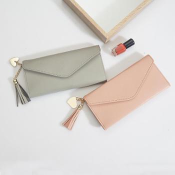 钱包女长款新款韩版简约个性零钱卡包多功能手拿超薄软皮钱夹