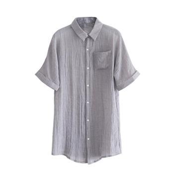 夏季风衣男棉麻薄款披风中长款超薄透气防晒衣短袖中国风宽松外套