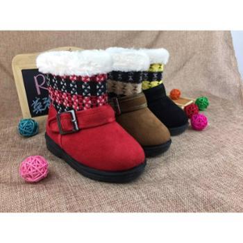 2018冬季新品高帮童靴软底