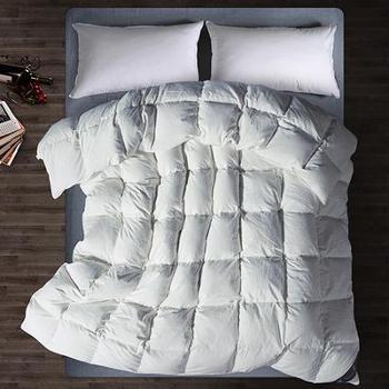 白禾-日式水洗棉羽绒被东北90白鸭绒冬被加厚保暖全棉双人被子被芯正品