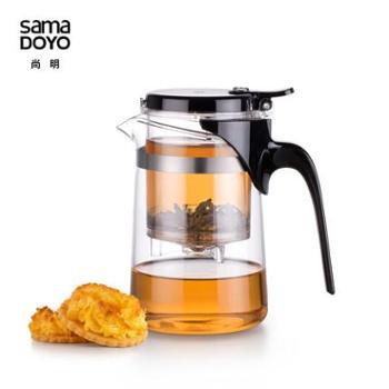 尚明飘逸杯茶道杯耐热玻璃壶弹压式尚明玻璃壶茶具