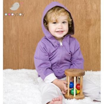 babysoy婴儿衣服宝宝棉衣外套男冬衣女宝宝带帽子外套
