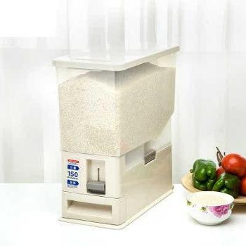 飞达三和 计量米缸防潮加厚储米箱8L 防霉防虫防蛀自动出米桶 生活用品 厨房用具