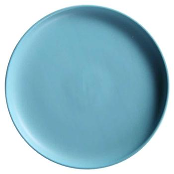 【买二送一】四发北欧创意家用陶瓷菜盘8寸西餐盘托盘牛排盘子黑色餐具早餐盘圆平盘碟厨房用具