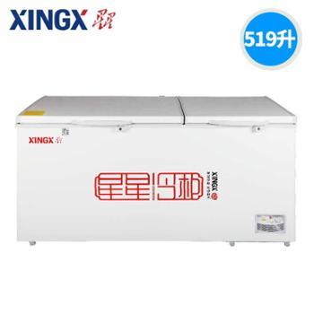 XINGX/星星BD/BC-519E大冰柜商用冷柜大型冷冻冷藏卧式单温雪柜