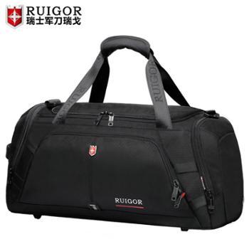 瑞士手提包男士大容量行李袋出差旅游短途旅行运动干湿分离健身包