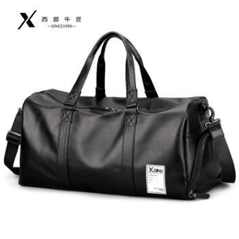 旅行包男出差短途旅游行李运动健身包手提包大容量商务单肩斜挎包
