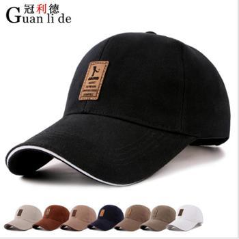 秋季帽子新款男士中老年韩版棒球帽时尚棉质鸭舌帽户外防晒遮阳帽