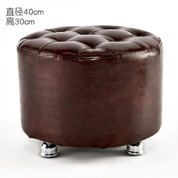 智亚纯色矮凳小凳子换鞋凳时尚创意沙发凳穿鞋坐墩梳妆实木矮圆凳