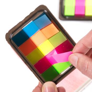 荧光膜便利贴标签贴学生用标记贴荧光贴5包装
