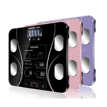 松樱 USB可充电体脂秤称体重秤家用测电子秤脂肪秤精准电子称 sy02