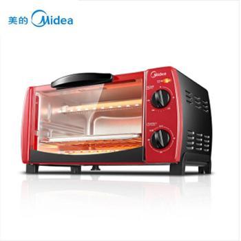 """""""八一特惠""""美的(Midea)电烤箱家用多功能 迷你小烤箱 T1-102D 10L"""