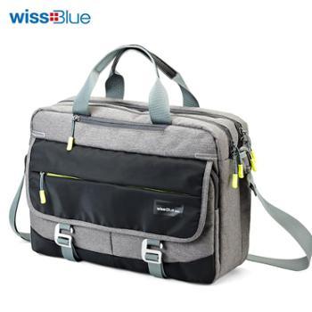 维仕蓝Wissblue多功能手提商务包单肩包挎包WB1158