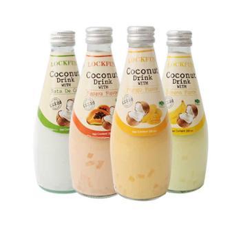 乐可芬椰子网红饮料芒果果汁椰子汁饮品椰子水290ml*4瓶