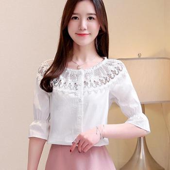 百旅Bailv衬衫新款春装很仙雪纺上衣服洋气显瘦欧货时尚衬衣春款