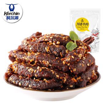 科尔沁(kerchin)川香牛肉干105g休闲零食小吃川香牛肉条