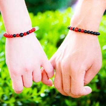 天然红玛瑙韩版首饰情侣手链甜美简约未镶嵌原创水晶礼品