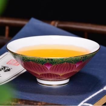 吾游 珐琅彩掐金丝茶杯 手绘杯