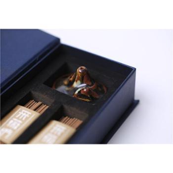 龙泉青瓷塑造双峰插云奇景便携带迷你型香具一套包邮