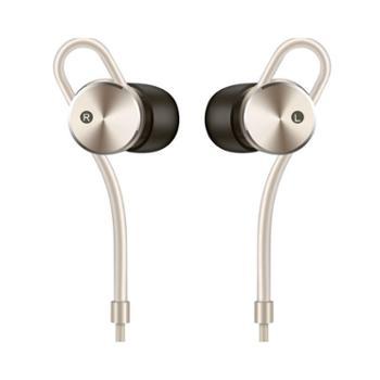 华为 (HUAWEI)AM185有源消噪耳机主动降噪原装圈铁入耳式音乐耳机 香槟金