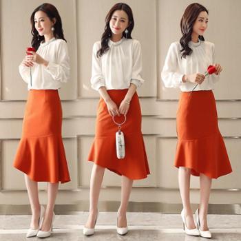【hellosadieTZ】女士套装/套裙2018年春季可爱韩版潮流简约修身显瘦气质HBLJR6205两件套