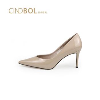 2019臣仙巴利时尚女鞋 简约裸色系 性感酒杯跟 潮流鞋头 高跟鞋 5608