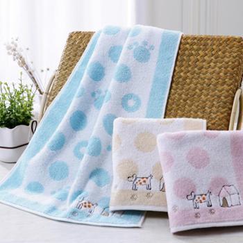 金号 纯棉毛巾10条装