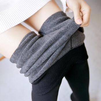 BOBO新款加厚打底裤锦纶分层抗起球连脚保暖一体裤B261