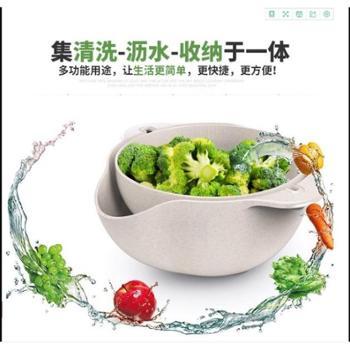 抖音神器网红同款洗菜盆洗菜篮旋转塑料水果蔬菜双层沥水篮厂家