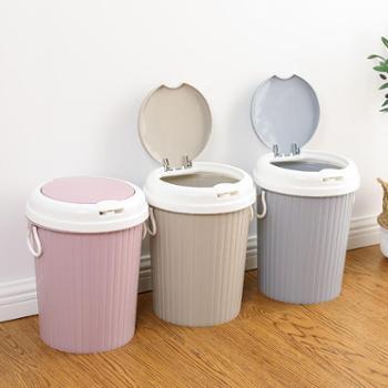 洗士多创意弹盖式家用垃圾桶