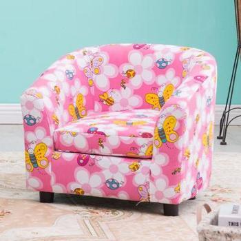 一米色彩儿童沙发儿童小沙发毛绒宝宝凳子可爱卡通公主沙发休闲懒人沙发
