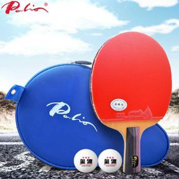 拍里奥乒乓球拍碳素2星双面反胶单拍直拍横拍