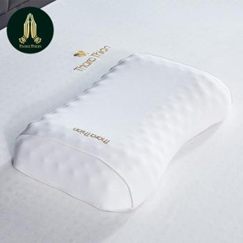 塔拉蒂安(TharaThian)泰国进口天然乳胶枕头枕芯 96.8%乳胶含量 美容护肩枕头 单只装