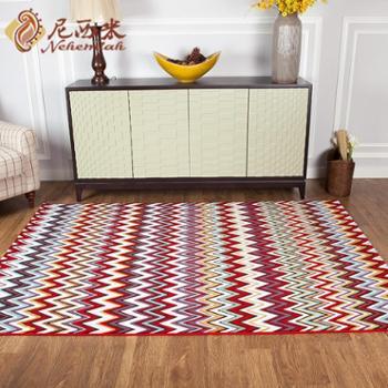 进口民族风情地毯 特色客厅地毯 卧室床边地毯 欧式沙发茶几垫