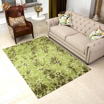 尼西米 现代美式条纹地毯 薄地毯客厅 卧室地毯 沙发茶几垫 1.4*2m