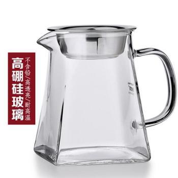 品德坊大款四方特厚高鹏硅玻璃茶海公道杯500ML