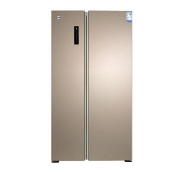 格力 晶弘对开门冰箱 变频531L风冷无霜 -33℃深冻 鲜美如初 BCD-531WPDC 卡其金色